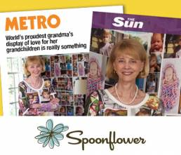 World's Proudest Grandma - Spoonflower