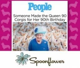 Feature Queen Corgis - Spoonflower
